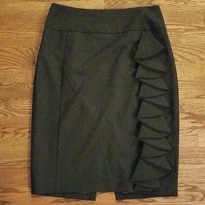 Express Studio Black Skirt with Ruffle detail